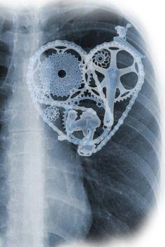Cycling lover heart X-ray digital image by ArtBySassanFilsoof
