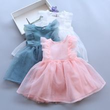 3bc5ac0b5b2603 2017 New Toddler Girls Tulle Dresses Pink Blue White Pretty Tutu For Girl  Baby Summer Dress Sleeveless Princess Party Wear TUTUs