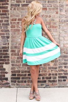 Mint Julep II Dress from UOI Boutique. Saved to Things I want as gifts. Cute Summer Dresses, Cute Dresses, Cute Outfits, Short Dresses, Cute Fashion, Fashion Outfits, Fasion, Fashion Ideas, Women's Fashion
