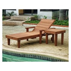Outdoor Best Redwood Single Summer Chaise Lounge