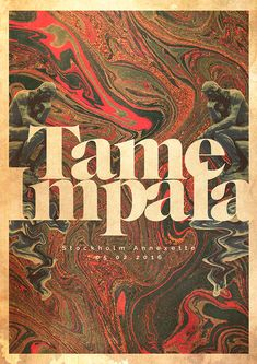 Tame Impala Gig poster | Domestika Musikfestival Poster, Poster Retro, Kunst Poster, Poster Wall, Poster Prints, Hipster Poster, Poster Quotes, Poster Layout, Art Print