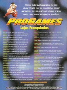Anúncio da rede de locadoras Progames.