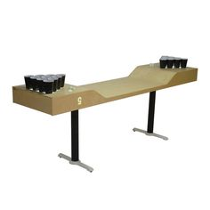 C5 Beer Pong Table Ivory & Black