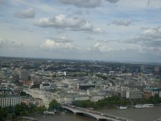 Panorama Londynu z  London Eye.