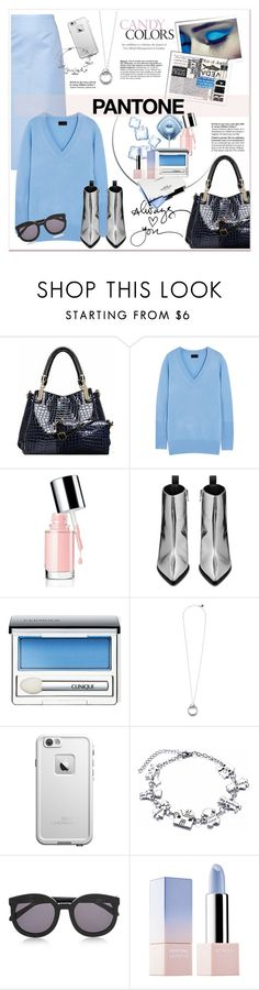 """""""Pantone - Candy Colors"""" by stylemeup-649 ❤ liked on Polyvore featuring Relaxfeel, Acne Studios, Clinique, LifeProof, Karen Walker and Sephora Collection"""