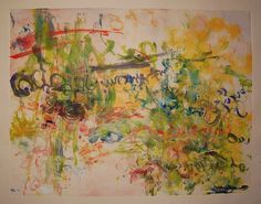Abstract expressionism monotype