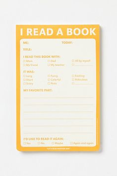Cool notepad to get students to summarize.