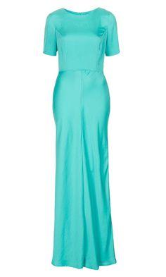 Clean T-Shirt Maxi Dress from TopShop. #aquabridesmaid #weddingstyle