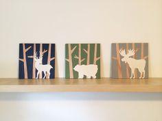 Items similar to Woodland Nursery Set - Woodland Animals - Forest Nursery Decor - Bear Nursery Art - Moose Nursery Decor - Deer Nursery Art - Rustic Nursery on Etsy