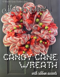 Sweet Candy Cane Wreath Tutorial