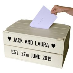 Personalized Wedding Card Crates Fauquier Springs Country Club - Blog