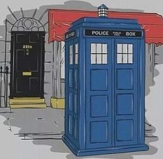 Find images and videos about doctor who, sherlock and tardis on We Heart It - the app to get lost in what you love. Doctor Who Art, 12th Doctor, Day Of The Shirt, Fandom Crossover, Tumblr, Blue Box, Time Lords, Matt Smith, Baker Street