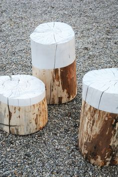 Painted Stump Stools