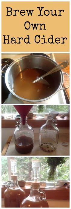 How to Make Hard Cider Part 1: Brew it! ~ Simple and delicious!  www.growforagecookferment.com Homemade Alcohol, Homemade Liquor, Brewing Recipes, Homebrew Recipes, Beer Brewing, Home Brewing, Alcohol Recipes, Wine Recipes, Coffee Recipes