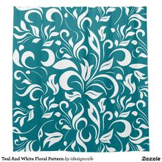 Teal And White Floral Pattern Shower Curtain http://www.zazzle.com/pd/spp/pt-menoenterprises_showercurtain?dz=1db98e22-4ab3-479f-8b58-92bf60f12def&clone=true&pending=true&style=showercurtain&liner=none&design.areas=%5Bmeno_showercurtain_front%5D&view=113977215989573456&CMPN=shareicon&lang=en&social=true&rf=238588924226571373