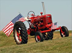 Farmall tractors helped grow crops to feed our nation.  Happy 4th