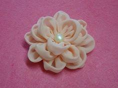 DIY chiffon flower,How to,Tutorial,fabric flower,easy - YouTube