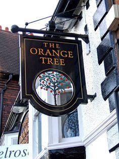 The Orange Tree pub sign, 16 King Street