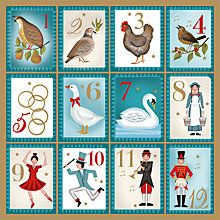 Buy Museums And Galleries Twelve Days Of Christmas Charity Christmas Cards, Pack of 5 Online at johnlewis.com