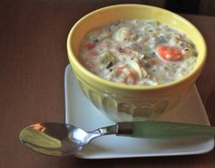 A creamy and comforting soup that can be made on the stove top or in the crock pot!