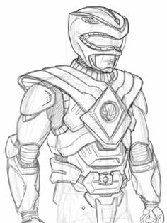 Robot Power Rangers Turbo Coloring Page Coloring Pages