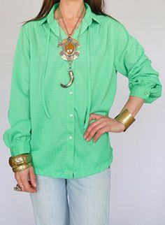 60s vintage blouse www.secondhandnew.nl