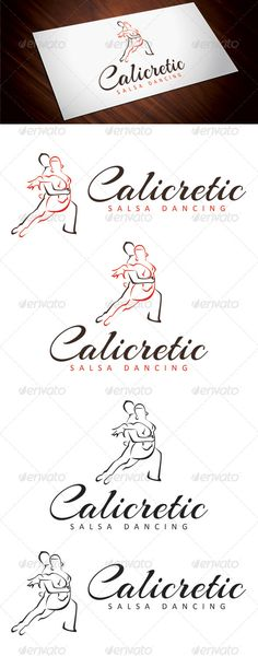 Calicretic Salsa Dancing  #GraphicRiver        A logo template suitable for dance classes, clubs. All layers,fonts and colors are editable. Font Used Fonts used are Arizonia Regular and  	 Calibri.. Files Included  JPG copies (4) of logo in 3000px * 3000px