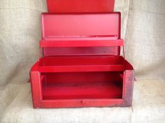 Vintage industrial grade tool case. Great storage, great industrial style. See more photos  on our website.