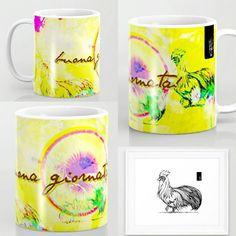 Rooster 1.0 Mug.  Rooster for redesign by SyA #drawings#ilustracion #mugs Bocetos para rediseño de S&A @arcadiawall #illustration  #sansalvador #elsalvador