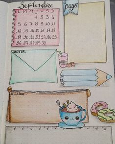 Le bullet journal - Le Cahier - Rebel Without Applause Bullet Journal Inspo, Bullet Journal Ideas Pages, Bullet Journal Layout, Journal Pages, Wreck This Journal, My Journal, Journal Diary, Kalender Design, Sketch Note