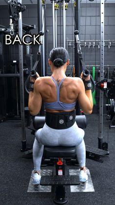 Gym Back Workout, Back And Bicep Workout, Back Workout Women, Gym Workouts Women, Gym Workout Videos, Gym Workout For Beginners, Shoulder Workout, Workout Plans, Back Workouts For Women