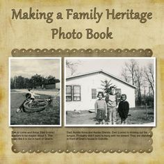 How to make a family heritage genealogy photo book with your family tree. This website is full of good information for a digital photo book. Family Tree Book, Create A Family Tree, Family History Book, All Family, Book Tree, Family Trees, Family Tree Layout, Family Tree Projects, Family Roots