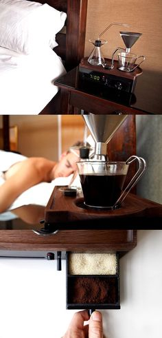Check it out==> | Coffee-making Alarm Clock | http://gwyl.io/coffee-making-alarm-clock/