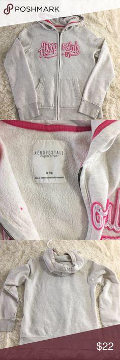 "Aeropostale Junior Girl Logo Hoodie Medium Full Zi Aeropostale Junior Girl Logo Hoodie Medium Full Zip  Materials: 70%  Cotton  30% Polyester  Flat Lay Measurements: 19""  Chest  23""  Length  26""  Sleeve  309 Aeropostale Sweaters"