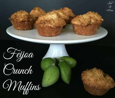 Absolutely delicious and oh so easy, you will love these Feijoa Muffins. The perfect balance, loaded with fruit and a delicious cruncy topping. Fejoa Recipes, Guava Recipes, Kiwi Recipes, Cooking Recipes, Cooking Ideas, Dishes Recipes, Food Ideas, Crunch, Autumn