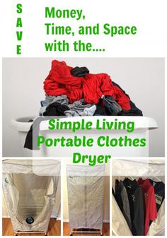 The Simple Living Portable Clothes Dryer will save money, time, and space and perfect for so many things. It's on sale on Amazon, too!