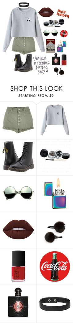 """""""Teenage Dirt-Bag"""" by universal-culture ❤ liked on Polyvore featuring River Island, Chicnova Fashion, Y's by Yohji Yamamoto, Revo, Zippo, Lime Crime, Topshop, NARS Cosmetics and Yves Saint Laurent"""