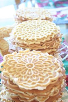 Italian Pizzelle~ this is a nice version with a little orange in it.