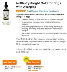All natural dog allergy remedy