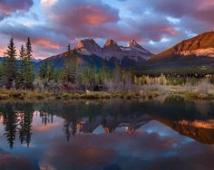 Three Sisters, Canmore, Alberta, Canad