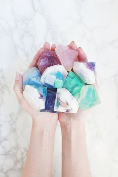 Soap DIY (Two Ways DIY Gemstone soapSoap (disambiguation) Soap is a surfactant cleaning compound used for personal or other cleaning. Soap may also refer to: Books And Tea, Diy Cadeau Noel, Diy Stockings, Homemade Soap Recipes, Bath Recipes, Homemade Art, Homemade Gifts, Crafts To Make And Sell, Sell Diy