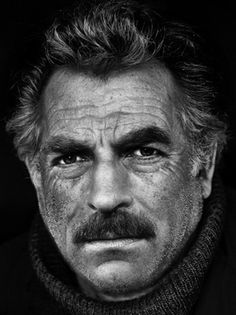 Original pin said this is Tom Selleck. Looks like a Photoshop of Kevin Costner and Tom Selleck morphed though. Celebrity Portraits, Celebrity Photos, Actrices Hollywood, Black And White Portraits, Interesting Faces, Famous Faces, Gorgeous Men, Movie Stars, Actors & Actresses