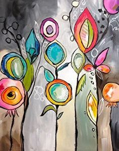 - Teresa McFayden - Like this creative art journal page! Kunstjournal Inspiration, Art Journal Inspiration, Painting Inspiration, Art Floral, Silk Painting, Painting & Drawing, Painting Flowers, Flower Paintings, Art Fantaisiste