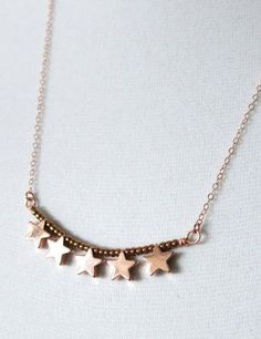 Lucky Stars necklace simple rose gold filled by ColorMeMissy