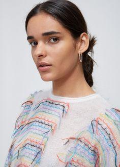 Totokaelo Striped Fringe Sweater - Knitwear - Apparel - Womens