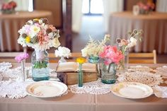 craft paper tablecloth - super inexpensive, easy to cleanup and has great rustic feel!