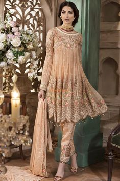 3860418c78 Check Out Maryam's Luxury Embroidered Midnight Blossom Chiffon Collection  Replica at Master Replica Pakistan Call/