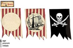 banners - you can personalize the one with age or a picture Pirate Boy, Pirate Theme, Pirate Invasion, Pirate Birthday, Tropical Party, Party Entertainment, Party Printables, Crafts To Make, Ideas Party
