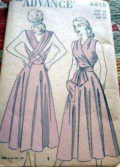 Advance 4818 Dress & bloomers 1948 Sz14/32/26.5/35 complete FF sld 24.27+1.99 11bds 8/31/17