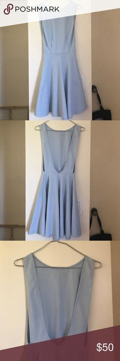American Apparel Skater dress size small powder blue colored skater dress from american apparel in size small. open on the sides/ has deep cut back. best if worn with pasties American Apparel Dresses Mini